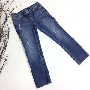 Simply Vera Wang Distressed Raw Hem Jeans